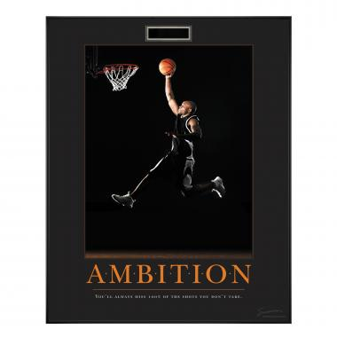 Ambition Basketball Motivational Poster