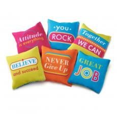 Fun Motivation - Tossable Inspiration Mini Pillows