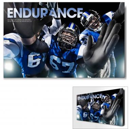 Endurance Football Tackle Motivational Art