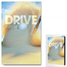 Sports Posters - Drive Golf Ball Motivational Art