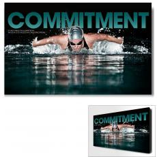 Modern Motivational Posters - Commitment Swimming Motivational Art