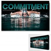 Commitment Swimming Motivational Art  (703769)