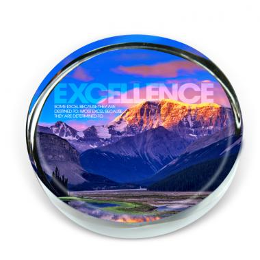 Excellence Mountain Positive Outlook Paperweight