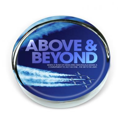 Above & Beyond Jets Positive Outlook Paperweight