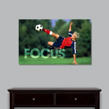 Focus Soccer Motivational Art