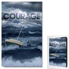 Modern Motivational Posters - Courage Ship in Storm Motivational Art