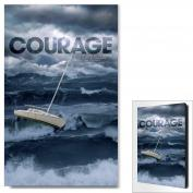 Courage Ship in Storm Motivational Art <span>(703777)</span> Modern Poster (703777), Modern Motivational Posters