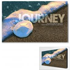 Modern Motivational Art - Journey Sand Dollar Motivational Art