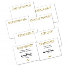 Awards & Recognition - Gold Foil Certificate Paper Sampler