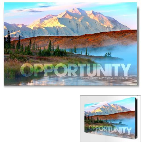 Opportunity Mountain Fog Motivational Art