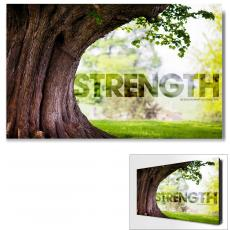 Modern Motivational Art - Strength Tree Motivational Art