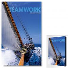 Modern Motivational Art - Teamwork Sailboat Motivational Art