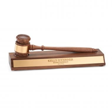 Gavel and Engraved Stand