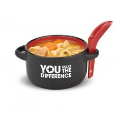 Customer Service Week - Red Appreciation Soup Mug & Spoon