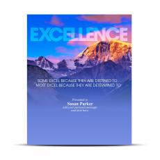 Excellence Mountain Infinity Award Plaque
