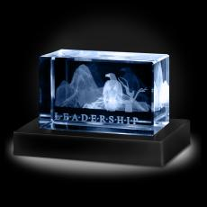3D Crystal Awards - Leadership Eagle 3D Crystal Award