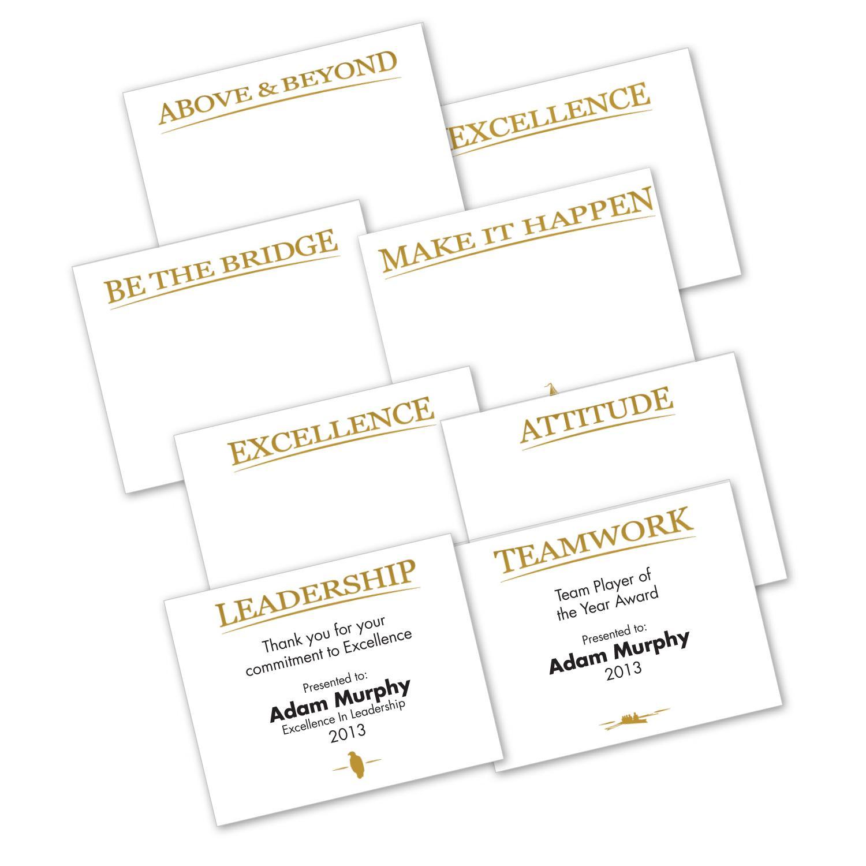 gold foil certificate paper sampler successories