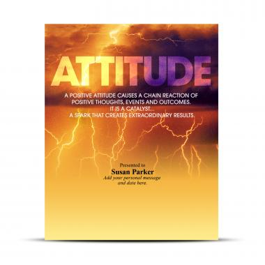 Attitude Lightning Infinity Award Plaque