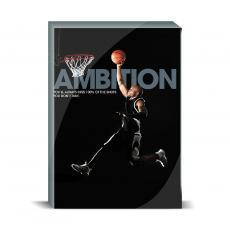 Modern Motivation - Ambition Basketball Desktop Print