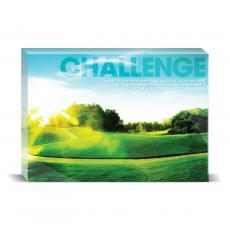 Modern Motivation - Challenge Golf Desktop Print