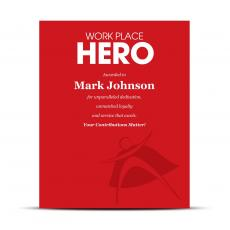 Sales - Workplace Hero Industry Award Plaque