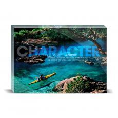 Modern Motivation - Character Kayaker Desktop Print