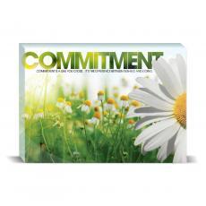 Modern Motivation - Commitment Daisy Desktop Print