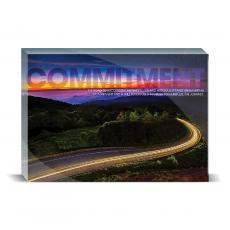 Modern Motivation - Commitment Highway Desktop Print