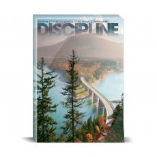 Modern Motivation - Discipline Bridge Desktop Print