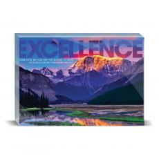 Modern Motivation - Excellence Mountain Desktop Print