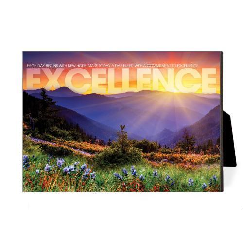 Excellence Sunrise Mountain Desktop Print