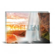 Modern Motivation - Excellence Waterfall Desktop Print