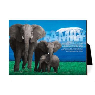 Family Elephants Desktop Print