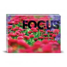 Modern Motivation - Focus Flowers Desktop Print