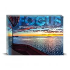 Modern Motivation - Focus Lighthouse Desktop Print