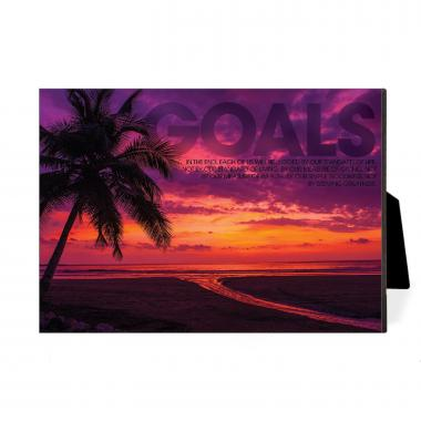 Goals Sunset Desktop Print