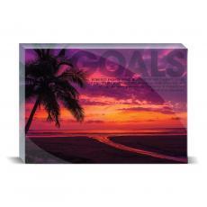 Modern Motivation - Goals Sunset Desktop Print