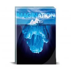 Modern Motivation - Imagination Iceberg Desktop Print