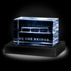 3D Crystal Awards - Be The Bridge 3D Crystal Award
