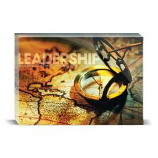 Modern Motivation - Leadership Compass Desktop Print