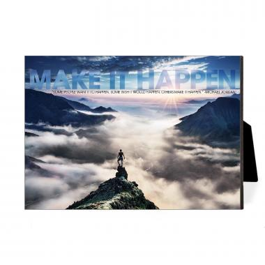 Make It Happen Mountain Desktop Print