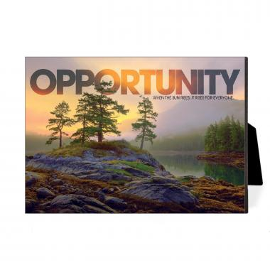 Opportunity Mountain Lake Desktop Print