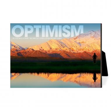 Optimism Mountain Desktop Print