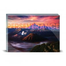 Modern Motivation - Perseverance Volcano Desktop Print
