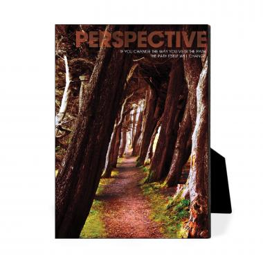 Perspective Wooded Path Desktop Print