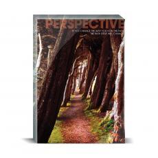 Modern Motivation - Perspective Wooded Path Desktop Print