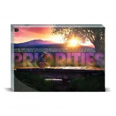 Modern Motivation - Priorities Bridge Desktop Print
