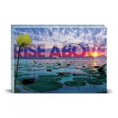 Modern Motivation - Rise Above Lily Pad Desktop Print
