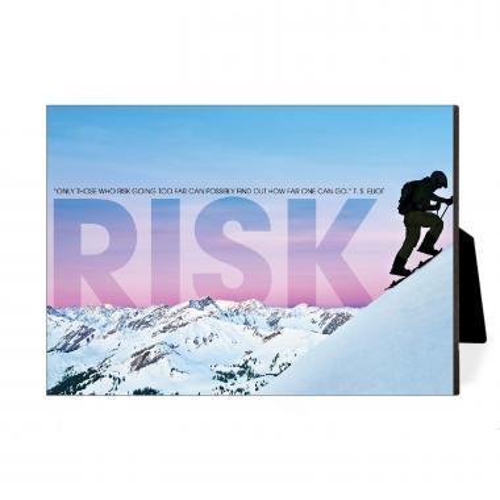 Risk Mountain Climber Desktop Print