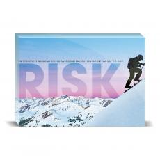 Modern Motivation - Risk Mountain Climber Desktop Print